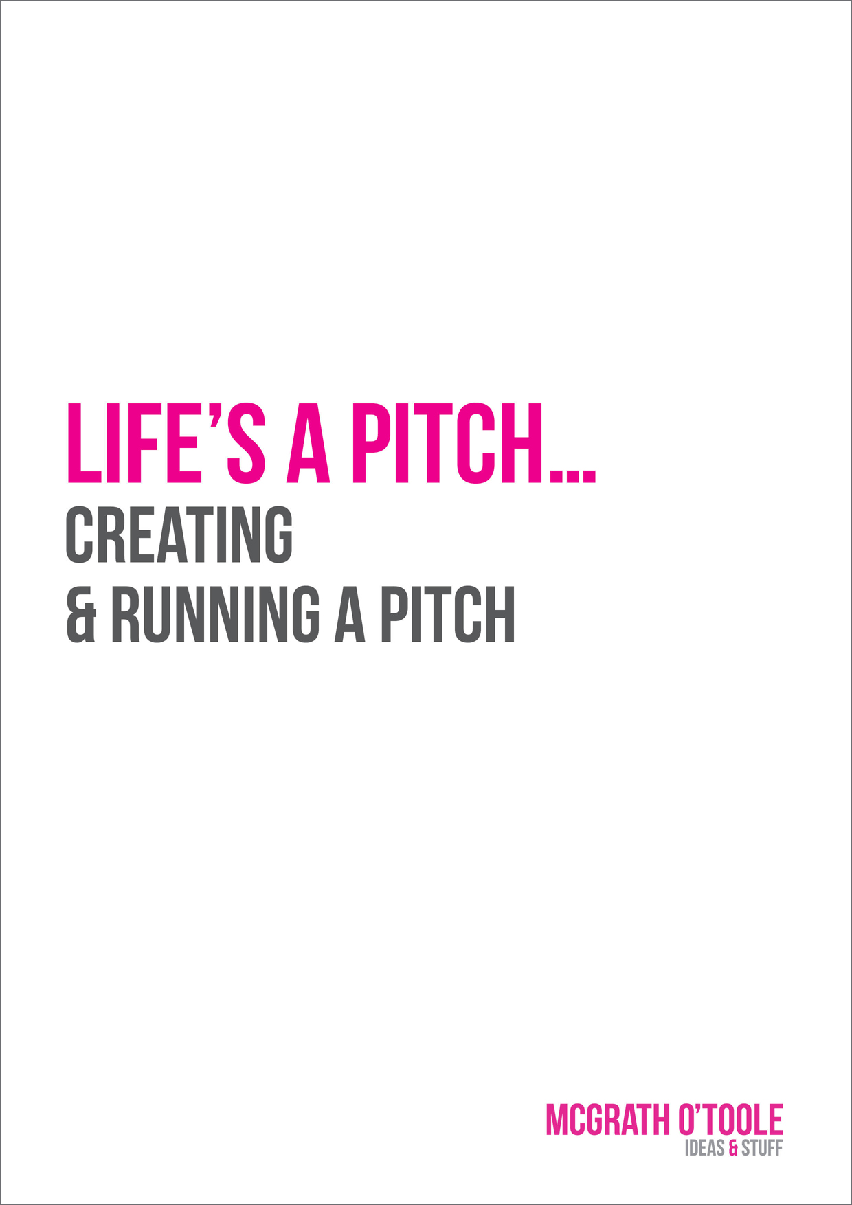 Marketing agency pitch guide brand new media for Advertising agency pitch